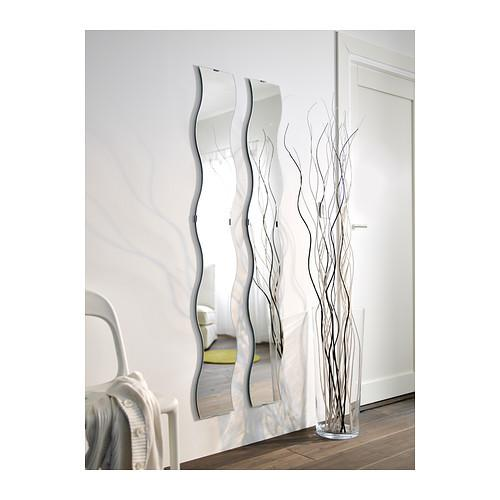 Long Wave S Shaped Bathroom Glass Mirrors 3mm 6mm For Hallway Cheval Mirror Images