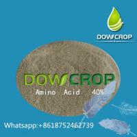 Dowcrop  hot  sale 100%Water  Soluble Fertilizer  Amino Acid  Yellow  Powder 80% Plant  Source