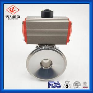 China SS 316L  Sanitary Ball Valve   Tank Bottom Pneumatic Actuated Ball Valve on sale