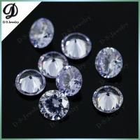 perfect cutting colored lavender cubic zircon gem stone