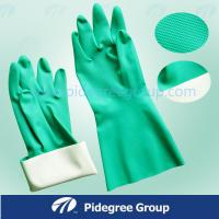 Black Light Weight Latex Industrial Gloves Durable With Orange Lined