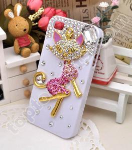 China fox rhinestone iphone4 hard case cover on sale
