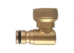 China Easy Connect Brass Hose Elbow 3/4 Female Thread High Performance 90 Degree Turning on sale