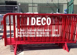 China Metal Crowd Control Barricade Fixed Leg Foot Barrier, Galvanized Steel Interlocking Bike Rack Barricades on sale