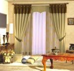 Rideau en douche floral de fenêtre de polyester jaune/pourpre pour la salle de bains