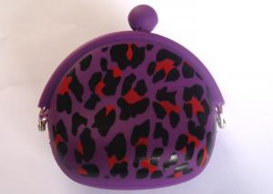 China OEM New style purple men's wallet with coin pocket silicone coin purse 95*92*45mm on sale