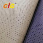 Fake Holes Artificial Leather Fabric , Pvc Synthetic Leather 0.8-1.0mm Thickness