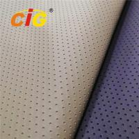 Fake Holes Pvc Leather Fabrics for Car Seat Cover High Tear Fastness