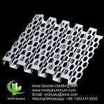 Perforated cladding metal aluminum panel powder coated outdoor audi facade panel