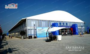 China Roof 1500 Seater Church Large Event Tents with ABS Walling and Glass Plane on sale