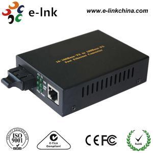 Double convertisseur 10/100Base - TX de médias d'Ethernet de fibre de SM à 100BASE - FX