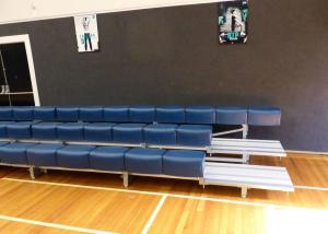 China Flexible Aluminum Sports Bleachers / Outdoor Bleacher Seating With Polymer Seat Plank on sale