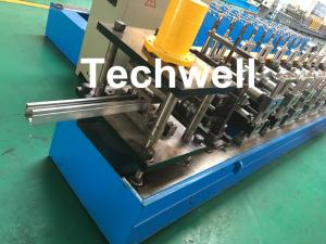 China 0-15m/min Cold Roll Forming Machine For Making Door Frame Guide , Shutter Door Slats Guide Rail on sale