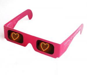 China Disposable 3D Firework Glasses For Holiday , Cardboard Frame 3d Glasses on sale