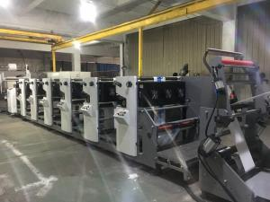 China Printing PE Coated Paper Cups with Corona good price label flexo printing machine with one slitting station on sale
