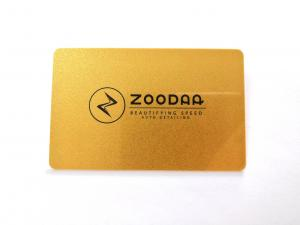 China Eco Custom Printed PVC Cards With Silkscreen Gold Metallic Finish Serial Number Signature on sale