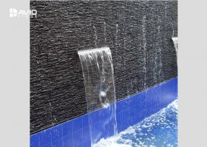 China Black Slate Cultured Stone For Drainboard , High Hardness Slate Veneer Wall Tiles on sale