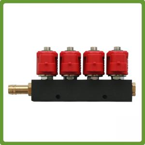 China VALTEK Type  4Cyl LPG Injectors Rail with jets - Autogas CNG GPL 3Ohm on sale