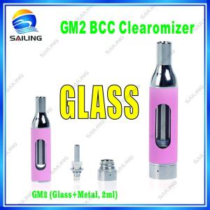 China 2 ml Glass Tank Atomizer GM2  Changeable Bottom Coil Atomizer  for Ecigarette on sale