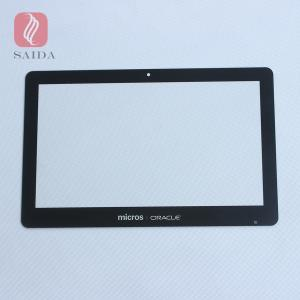 China custom 0.7mm 1.1mm 2.0mm 3mm  chemical strengthened glass cover lens for Industrial all-in-one touch POS system on sale