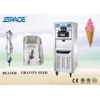 Soft Serve Commercial Ice Cream Making Machine Three Flavor With Movable Wheel