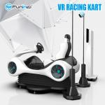 Newest VR Entertainment Black VR Karting Racing Car Game Machine with Virtual Reality Helmet