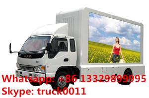 China HOT SALE JAC 4*2 LHD mobile digital billboard LED advertising vehicle,JAC brand mobile outdoor LED screen truck on sale