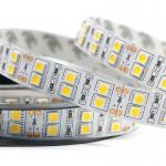High Quality 120 Leds/m Rgb Double Line 12V 24V IP20 5050 led strip lights