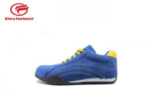China Blue Shine With Yellow Breathe Sport Safety Shoes , Office Men'S Athletic Safety Shoes on sale