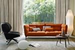 Husk SOFA  By Patricia Urquiola B&b Italia in fabric and leather cushion