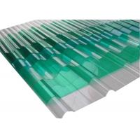 China Extrusion Corrugated Polycarbonate Panels Clear Corrugated Plastic For Greenhouse on sale
