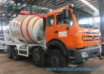 8X4 85Km/h 10m3 Mixer Truck North Benz truck White And Orange
