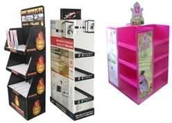 China Exposições onduladas favoráveis ao meio ambiente do POP com impressão colorida para anunciar on sale