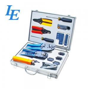 China LE-K4015 Network Wiring Tools Kit Set Of Crimp Punch Strip Cut Tool Tester on sale