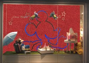 China Waterproof 3d 54 Width Glitter Effect Wallpaper 50m One Roll For Shop Windows on sale