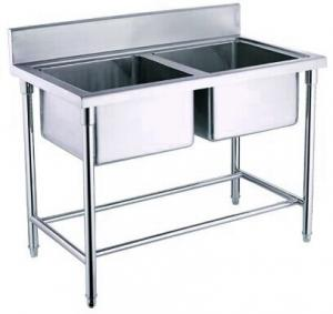 Incroyable ... Quality Kitchen Double Bowl Industrial Stainless Steel Sinks For  Restaurant / Hotel For Sale ...