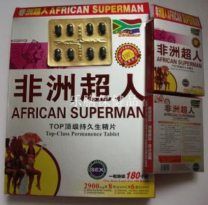 China African Superman Male Sex Enlargement Pills Stronger and Longer Erections on sale