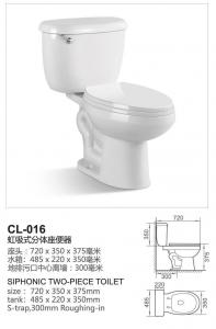 Bathroom Toilet Sanitary Ware Washdown Two Piece Closet (CL-016) for ...