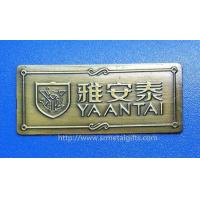 China Specialist in antique brass emblem plates sign plaques,zinc alloy,China metal gift factory on sale