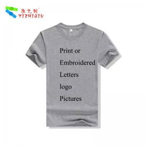 China Custom Plain Cotton T Shirts , Mens Short Sleeve T Shirts Plain Dyed Technics on sale