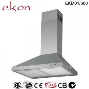 China CE CB SAA GS Approved 60cm Wall Mount Stainless Steel Chimney Cooker Hood on sale