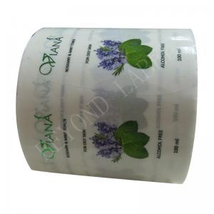 China Adhesive Label For Plastic Waterproof Bottle Labels Sticker Printed For Skin Toner on sale