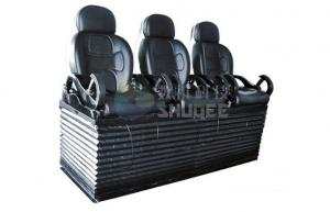 China Luxury black 3 seats / set Movie Theater Chairs By pneumatic / hydraulic Control on sale