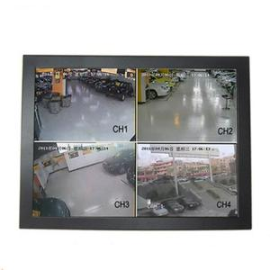 China Black 15 Inch CCTV LCD Monitor Panel Wall Mount Wide Viewing Angle Low Consumption on sale