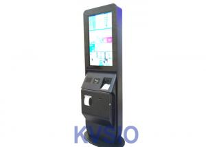 China Self Service Hotel Check In Kiosk 8RS-232 Ports Interface With Passport Reader on sale