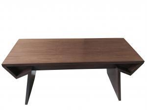 China Walnut wood veneer dark finish Wooden writing desk for hotel bedroom furniture,hospitality casegoods on sale