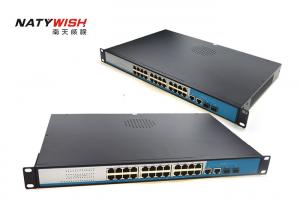China Fiber Optical 26 Port POE Switch With 24 POE Ethernet Ports 2 * 10 / 100 / 1000M SFP Slots on sale