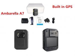 China 5MP CMOS Sensor Ambarella A7 Body Camera GPS 1080P IP65 Police Body Wearable Camera on sale