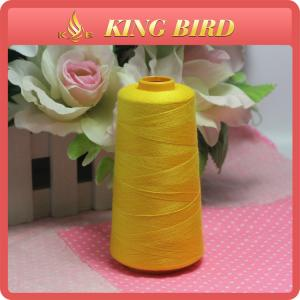 China Shiny Yellow Dyed KingBird Sewing Thread Cone For Winding Machines on sale