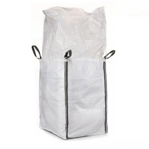 China Full Open Top 1 Ton Bulk Bag , Fully Belted Flat Bottom Super Sacks Bags on sale